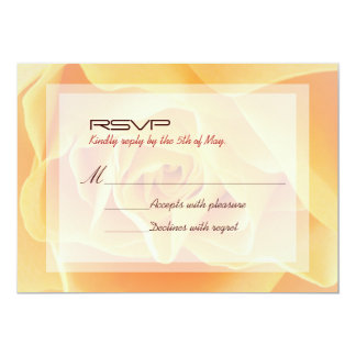 Classy Yellow Rose Floral Wedding RSVP Card