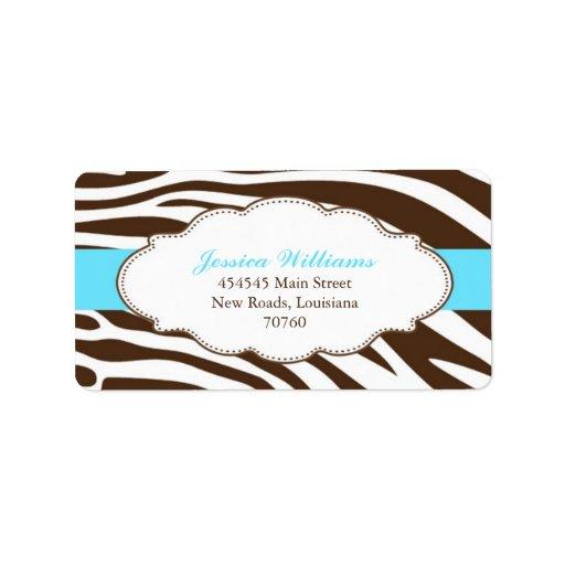 Classy Zebra Label | Zazzle