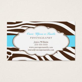 Classy Zebra Print Business Card