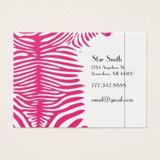 Classy Zebra Skin on Any Color Card Fuchsia