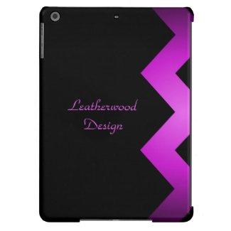 Classy Zigzag Purple Personalized iPad Air Case