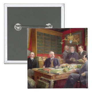 Claude Auge  in his Office with his Colleagues Button