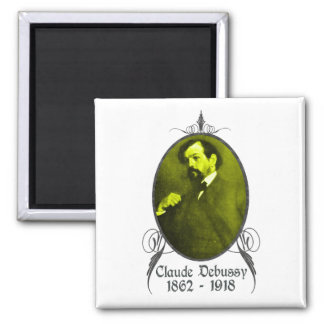 Claude Debussy 2 Inch Square Magnet