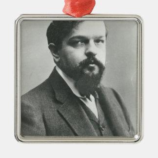 Claude Debussy Adorno Navideño Cuadrado De Metal