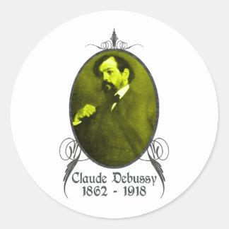 Claude Debussy Classic Round Sticker