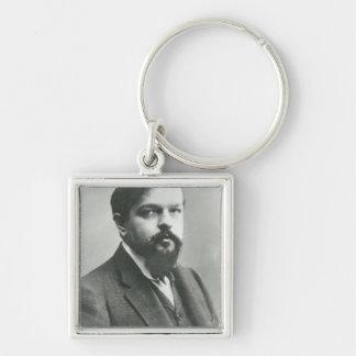 Claude Debussy Llavero Cuadrado Plateado