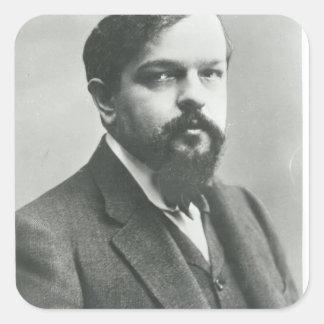 Claude Debussy Pegatina Cuadrada