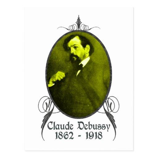 Claude Debussy Postcard