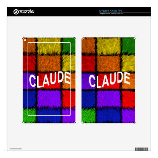 CLAUDE DECAL FOR KINDLE FIRE