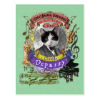Claude Depussy Funny Cat Animal Composer Debussy Postcard