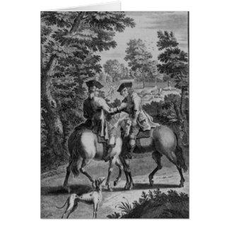 Claude Duval que roba al cordelero del escudero Tarjetón