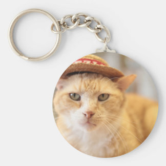 Claude in a hat keychain