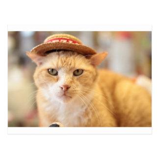 Claude in a hat postcard