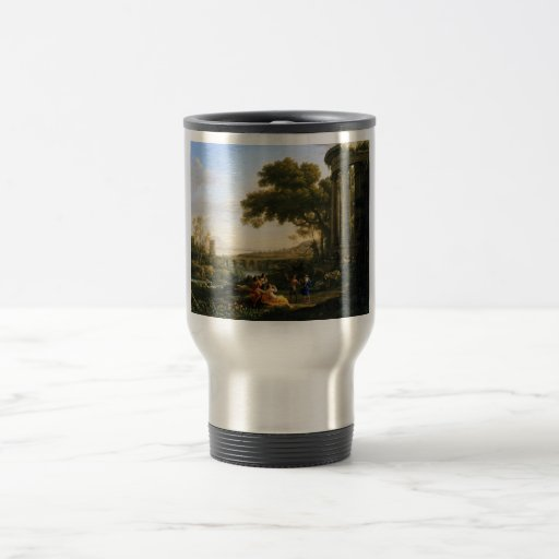 Claude Lorrain Artwork 15 Oz Stainless Steel Travel Mug