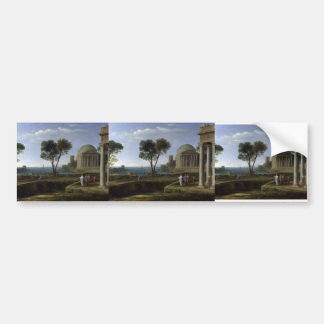 Claude Lorrain- Landscape with Aeneas at Delos Bumper Sticker