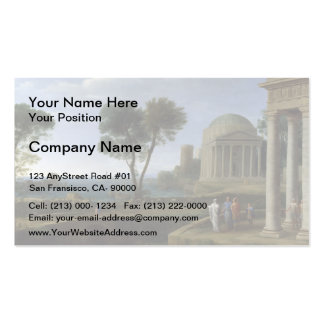 Claude Lorrain- Landscape with Aeneas at Delos Double-Sided Standard Business Cards (Pack Of 100)