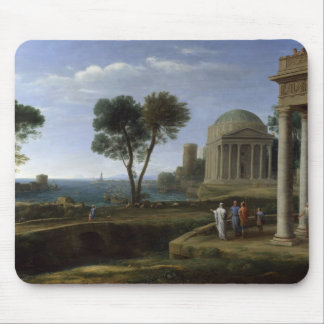 Claude Lorrain- Landscape with Aeneas at Delos Mouse Pad