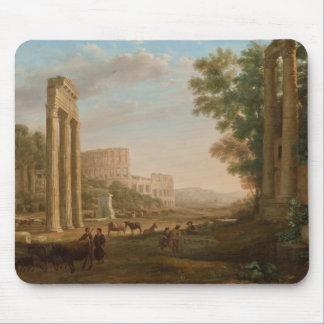 Claude Lorrain - ruinas del foro romano Alfombrillas De Ratón