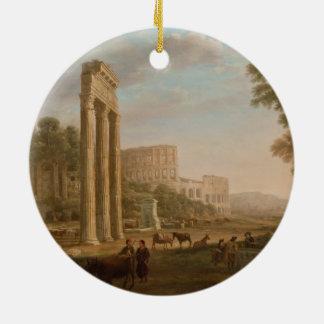 Claude Lorrain - ruinas del foro romano Ornamento Para Arbol De Navidad
