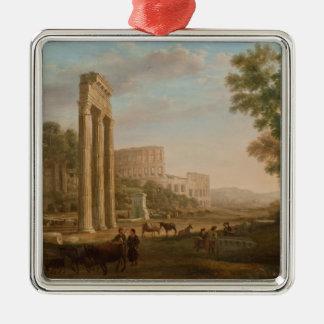 Claude Lorrain - ruinas del foro romano Adornos De Navidad