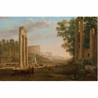Claude Lorrain - ruinas del foro romano Escultura Fotografica