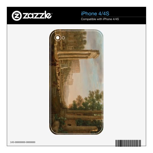 Claude Lorrain - ruinas del foro romano iPhone 4 Calcomanía