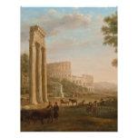 Claude Lorrain - ruinas del foro romano Membretes Personalizados