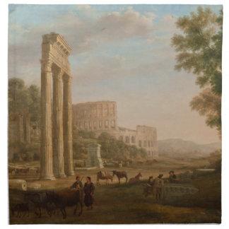Claude Lorrain - ruinas del foro romano Servilleta De Papel