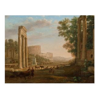 Claude Lorrain - ruinas del foro romano Postal