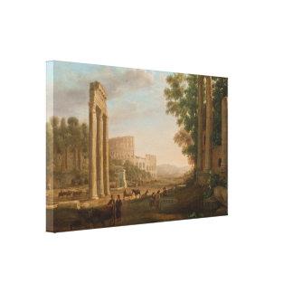 Claude Lorrain - Ruins of the Roman forum Canvas Prints