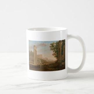 Claude Lorrain - Ruins of the Roman forum Coffee Mug