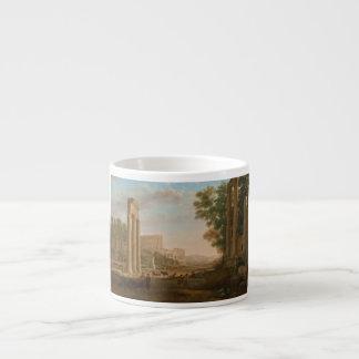 Claude Lorrain - Ruins of the Roman forum Espresso Cup