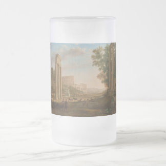 Claude Lorrain - Ruins of the Roman forum Frosted Glass Beer Mug