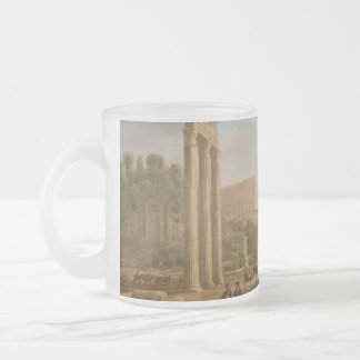 Claude Lorrain - Ruins of the Roman forum Frosted Glass Coffee Mug