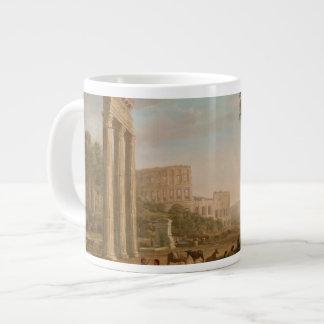 Claude Lorrain - Ruins of the Roman forum Large Coffee Mug
