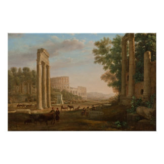Claude Lorrain - Ruins of the Roman forum Posters