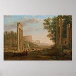 Claude Lorrain - Ruins of the Roman forum Poster