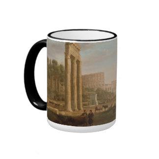 Claude Lorrain - Ruins of the Roman forum Ringer Mug
