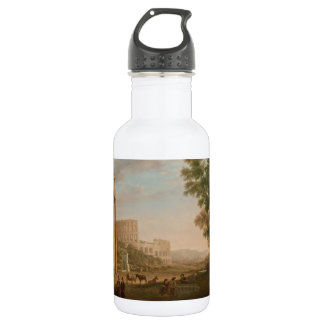 Claude Lorrain - Ruins of the Roman forum Stainless Steel Water Bottle