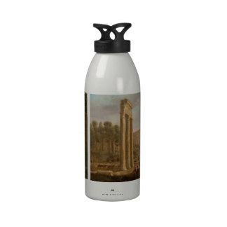 Claude Lorrain - Ruins of the Roman forum Reusable Water Bottles