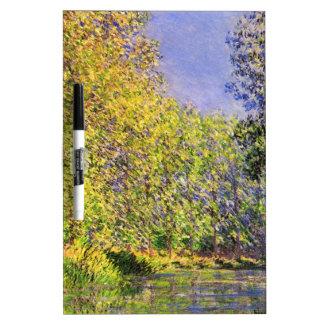 Claude Monet A Bend Of The Epte Dry Erase Board