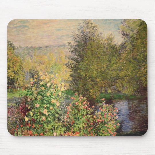 Claude Monet | A Corner of the Garden at Montgeron Mouse Pad