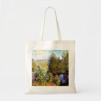 Claude Monet A Corner of the Garden at Montgeron Tote Bag
