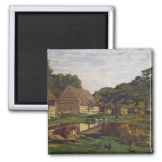 Claude Monet | A Farmyard in Normandy Magnet