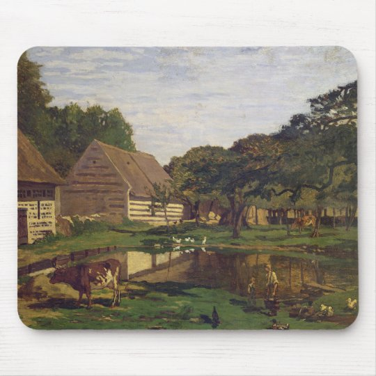 Claude Monet | A Farmyard in Normandy Mouse Pad