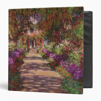 Claude Monet | A Pathway in Monet's Garden 3 Ring Binder
