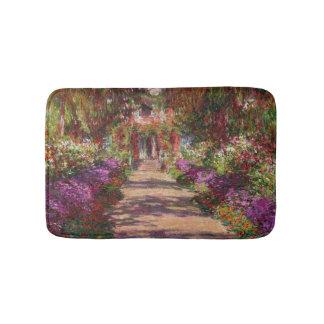Claude Monet | A Pathway in Monet's Garden Bathroom Mat