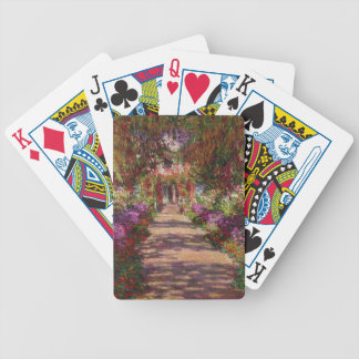 Claude Monet   A Pathway in Monet's Garden Bicycle Playing Cards