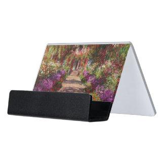 Claude Monet | A Pathway in Monet's Garden Desk Business Card Holder