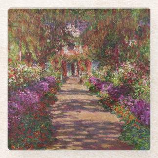 Claude Monet | A Pathway in Monet's Garden Glass Coaster